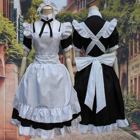 M/L [Love Live] Sonoda Umi Maid Dress Cosplay Costume SP153595