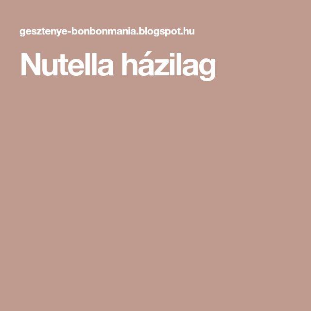 Nutella házilag
