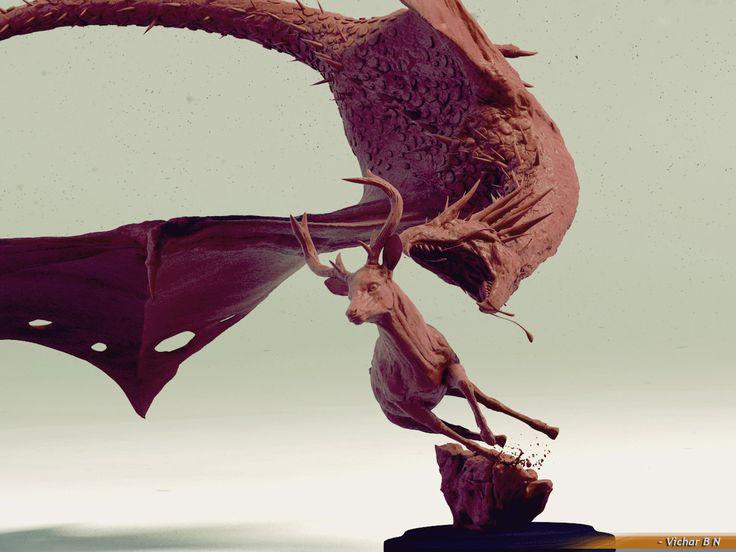 Hunting Dragon , vichar vichar on ArtStation at https://www.artstation.com/artwork/hunting-dragon-6811e4f0-dd06-4dea-9f62-be8f5a3eea85