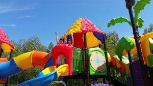nouveauté 2015 aire de jeux - le grand chateau de toboggans camping evasion landevieille vendee