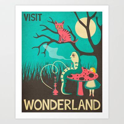 ALICE IN WONDERLAND Art Print by Jazzberry Blue - $19.00