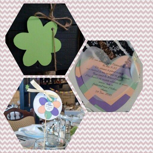 Decoratiuni pentru botez realizate in atelierul MopoShop