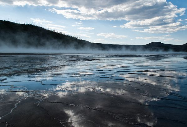 Image is by Seth GaleWyrick. Location: Yellowstone National Park, WY.: Photos, Grand Prismatic, Prismatic Spring, Spring Yellowstone, Geotherm Pools, Blocks, Places, Terraces, Yellowstone National Parks