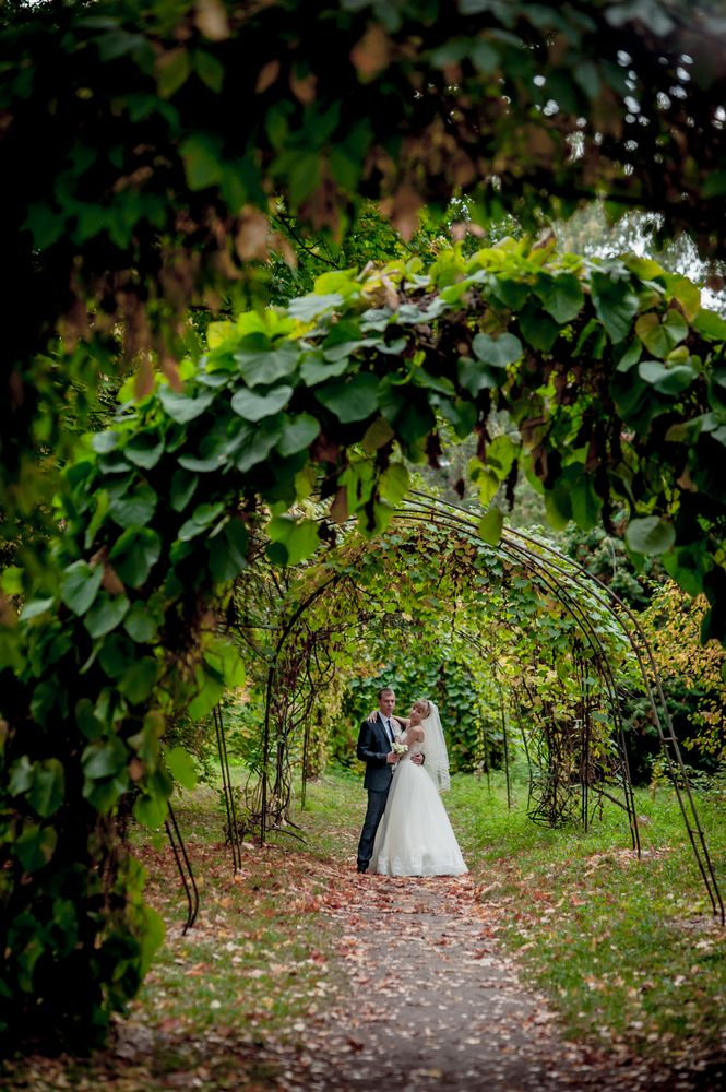 Such An Awesome Wedding Photo Idea To Remember The Foliage Around Your Venue