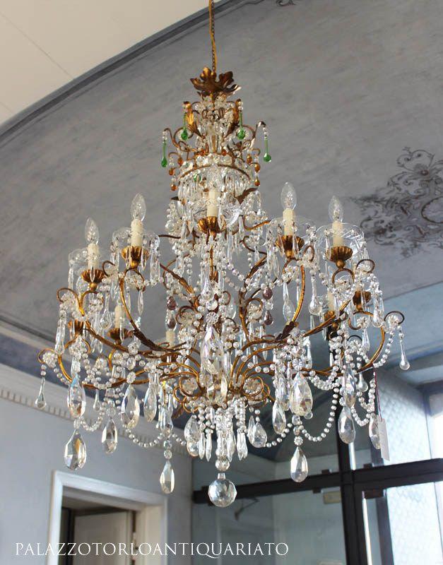Antique italian chandelier lampadario antiquariato vintage palazzotorlo античные