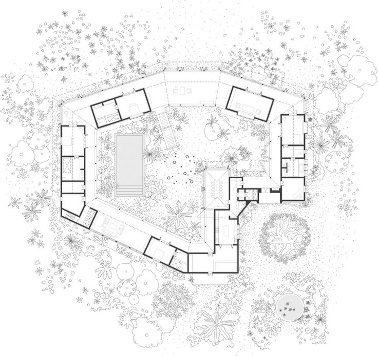 Tara House / Studio Mumbai pretty plans are hard to draw