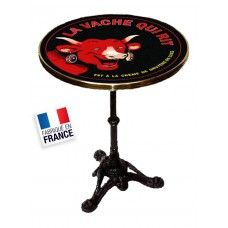 "TABLE BISTROT ""LA VACHE QUI RIT"""