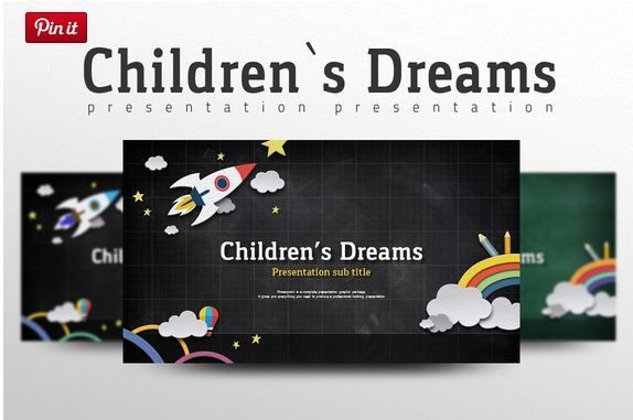Children's Dreams ppt theme   http://textycafe.com/cool-powerpoint-templates-themes-backgrounds-for-cool-powerpoint-presentations/