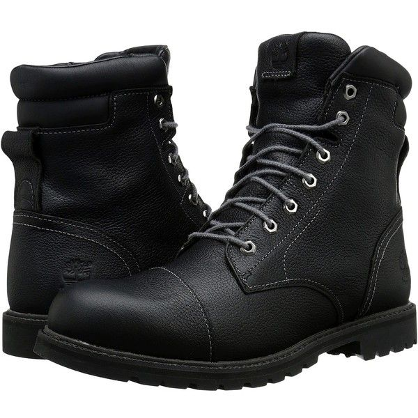 Timberland Chestnut Ridge 6 Insulated Waterproof Boot (Black Full... ($190) ❤ liked on Polyvore featuring men's fashion, men's shoes, men's boots, men's work boots, shoes, boots, men, male clothes, timberland mens boots and mens black boots