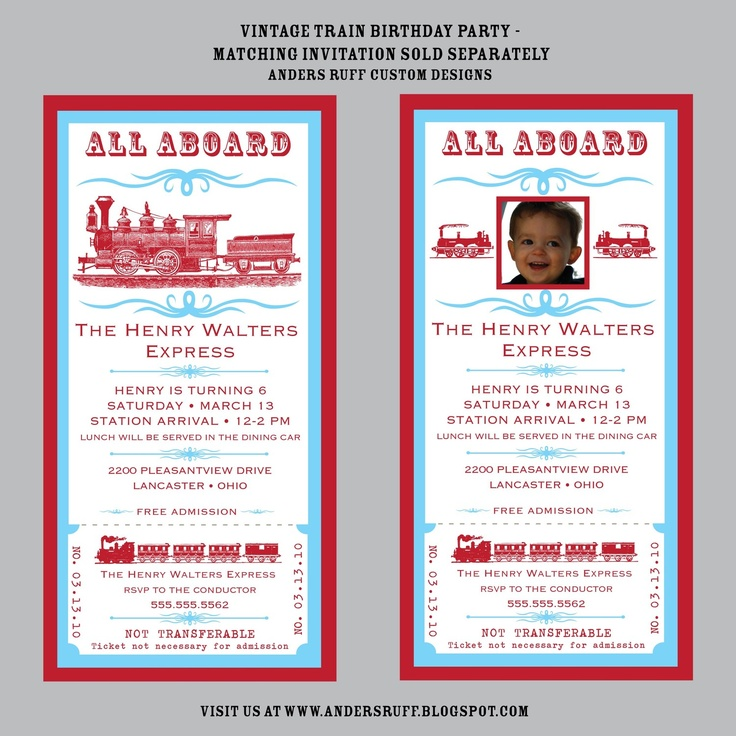 18 best Train Invites images on Pinterest | Trains, Birthday party ...
