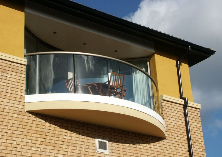 Curved Glass Balcony In North West England Balcony Railing Design Balcony Design Railing Design