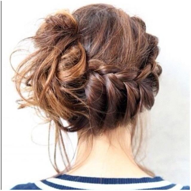 French braid bun: French Braids, Messy Hair, Messy Buns, Messy Braids, Hairstyle, Hair Style, Side Braids, Side Buns, Braids Buns