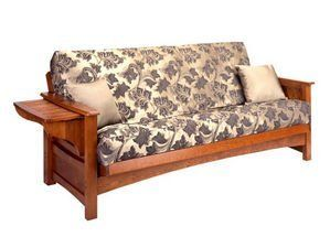Burlington Cherry Oak Futon Frame by Gold Bond by Gold Bond. $479.00. Burlington Futon Frame by Gold Bond Burlington oak wood futon from Gold bond is a unique offer with price and quality. This oak wood futon provides excellent support and durability. The Burlington's simple traditional design ensures that this futon will be a great fit in any room of the house. Features: Constructed of durable oak wood Easy to convert into a bed position Available in four sizes...