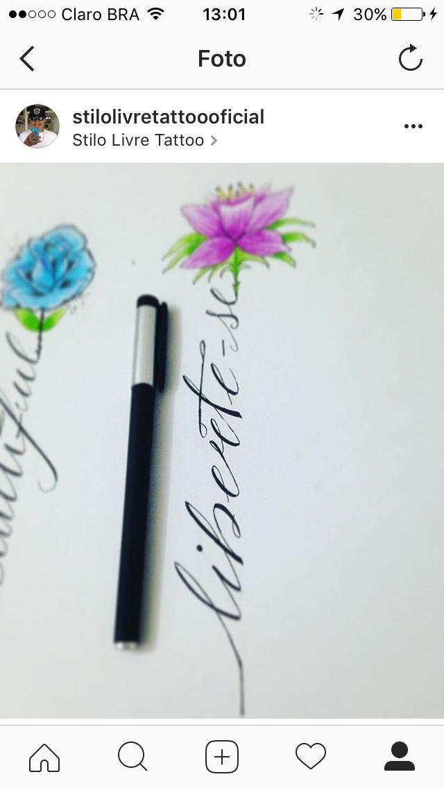 #Caligrafia #fineline #libetese #stilolivretattoooficial #finotraço #arte #disponível #Escrita #Flor #flowers #lotos