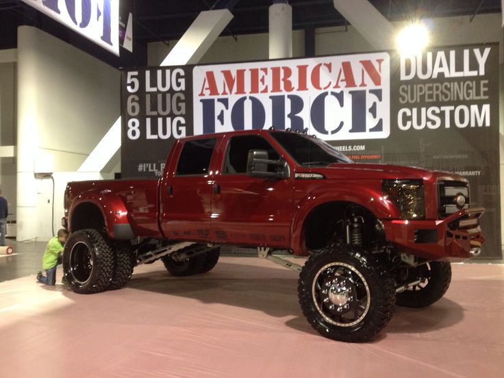SEMA 2013. Street Diesel Performance truck at American Force Wheels booth. 2014 F450 Platinum.