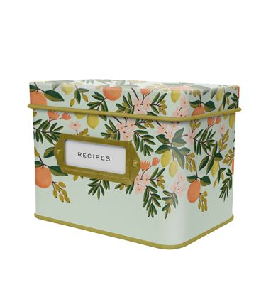 Rifle paper co recipe boxes (they also have pretty wooden boxes)@Michelle Flynn Flynn Crowther