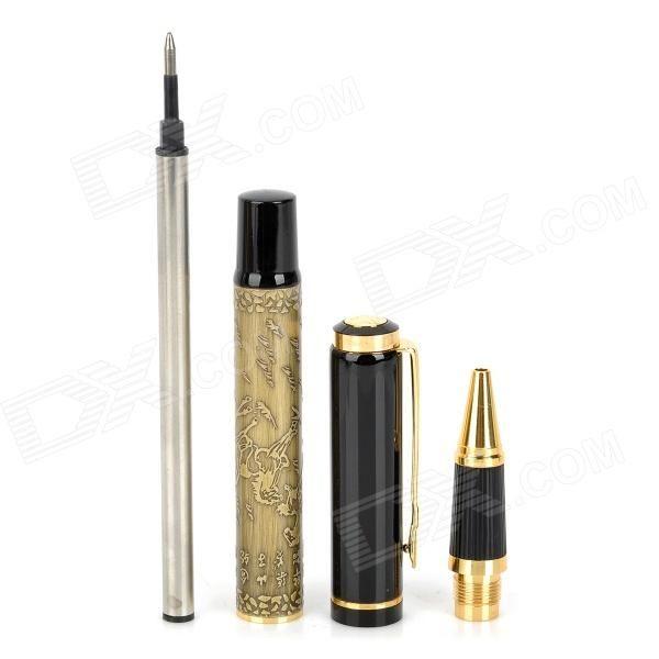 Caballos Modelo de aleación de aluminio Negro Gel Ink Pen Sign Pen - Negro + Bronze