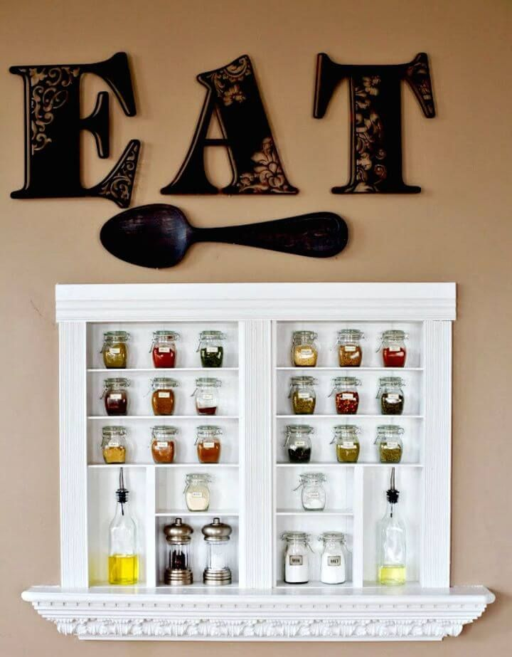 12 DIY Spice Rack Ideas to Update Your Kitchen Redecorating