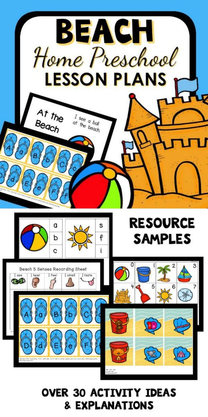Beach Theme Home Preschool Lesson Plans Beach Theme Preschool