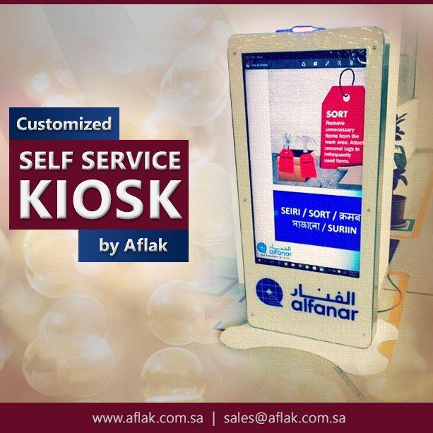 Customized Self Service KIOSK by Aflak.