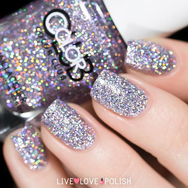 holographic silver glitter http://www.livelovepolish.com/collections/all/products/color-club-sugarplum-fairy-nail-polish-beyond-the-mistletoe-holiday-2011-collection