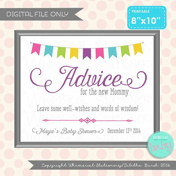 baby shower sign advice table sign bunting sweetness white