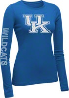 Kentucky Wildcats Women's Royal Taylor Long Sleeve T-Shirt