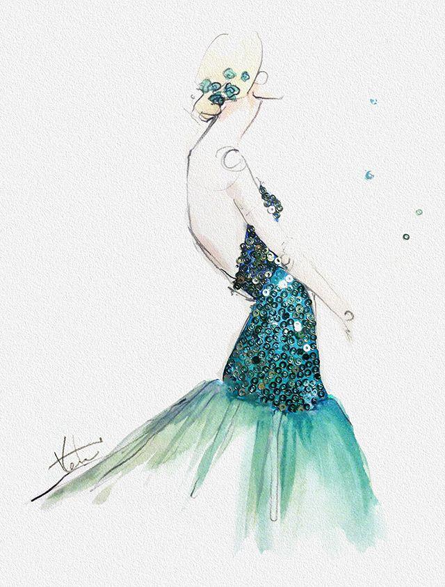 sequin emerald - Katie Rodger