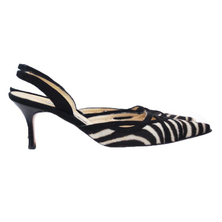Luciano Padovan Zebra Print Slingback Shoes - Vault33 | The Wild ...