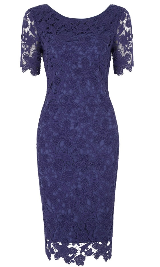 Marks  Spencer SS13 Purple Lace Dress, £85