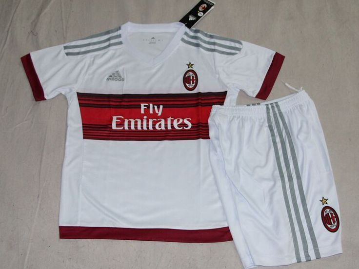 AC Milan Jersey 2015/16 Jersey Youth Away Soccer Shirt Kids Football Kits for $21 on Soccer777.net