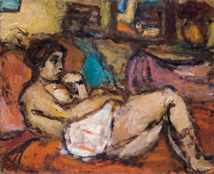Czóbel Béla (1883-1976) Fekvő nő, 1937