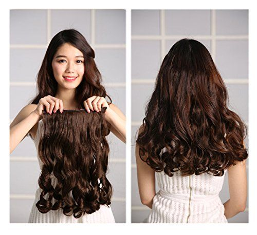 Rhyme 20 Inch Curly 34 Full Head Synthetic Hair Extensions Clip In Hairpieces 5 Clips 110gLinen >>> For more information, visit image link.Note:It is affiliate link to Amazon.