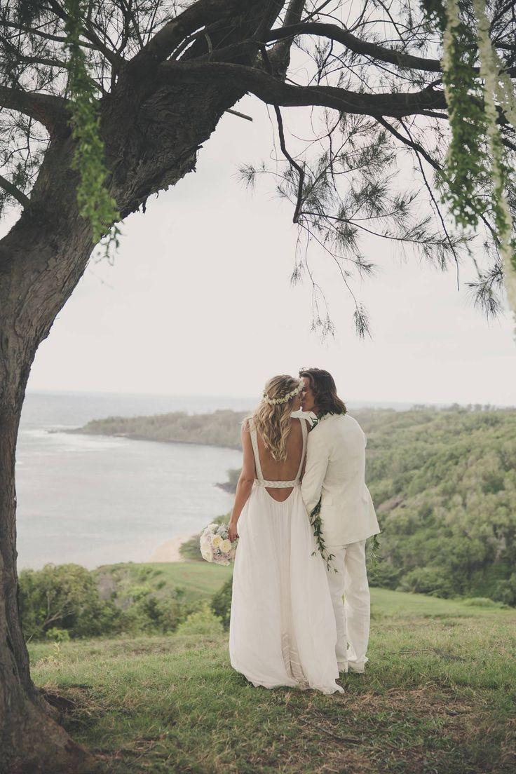 Model Tori Praver + Surfer Danny Fuller's Bohemian Kauai Wedding | Hawaii