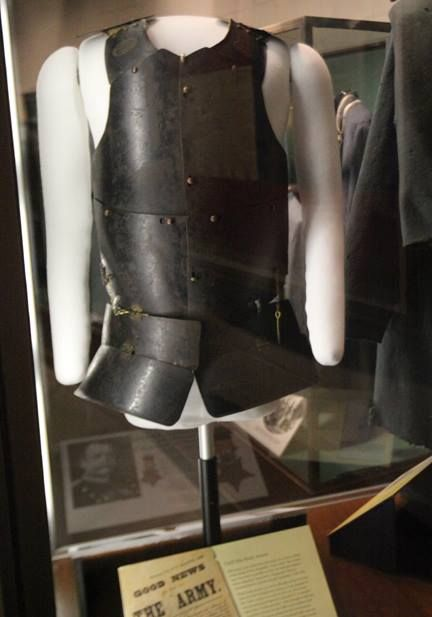 A rare piece of Civil War body armor is on permanent display at the Virginia Museum of the Civil War at the New Market Battlefield State Historical Park.   The Virginia Museum of the Civil War at New Market Battlefield State Historical Park tells the story of the war through exhibits, artifacts and dioramas, with a special emphasis on the war in Virginia.    May 15, 1864, Battle of New Market.