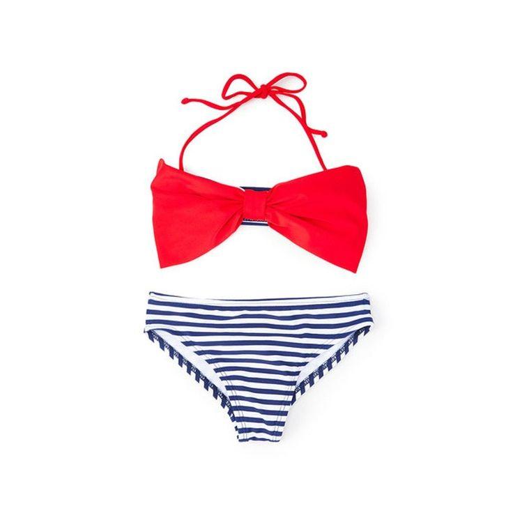 Dippin' Daisy's Girls' Navy Bow Bandeau Bikini