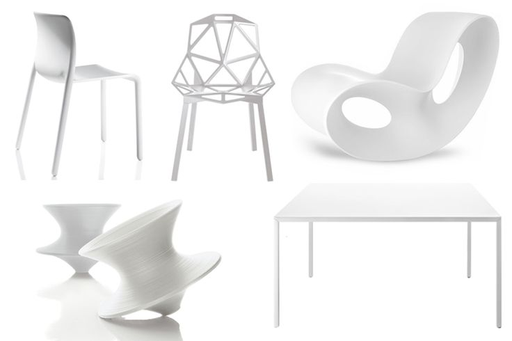White, the absolute hue of summer. Under the summer sunlight the white outdoor furniture of Magis can be in a constant play with light and shadow.