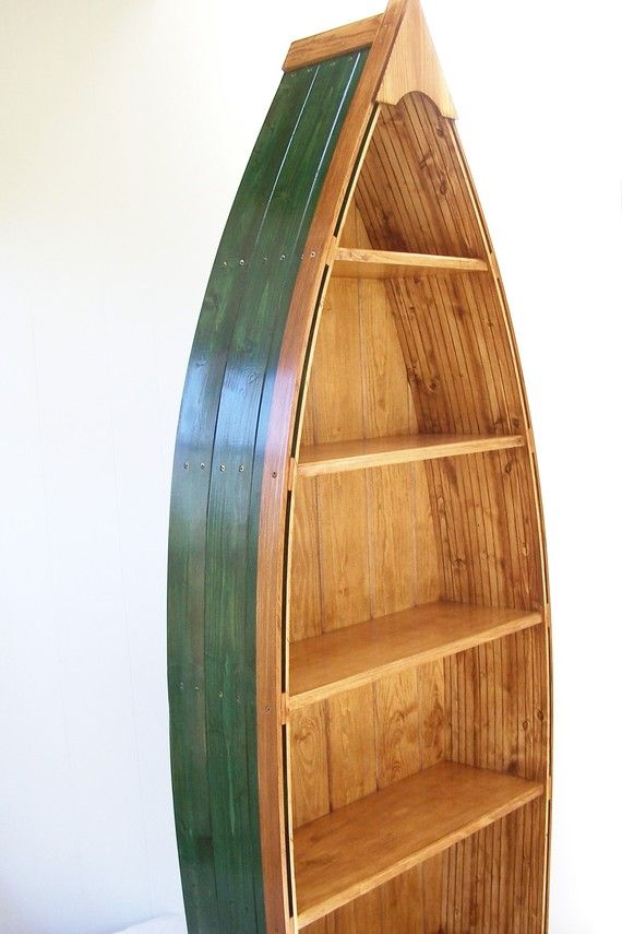 Boat Bookcase in Green Height 69 inches by SewNSaw on Etsy, $325.00 - Best 25+ Boat Bookcase Ideas That You Will Like On Pinterest