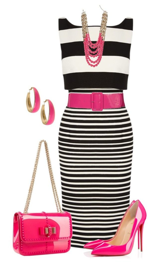 """""""Sin título #1360"""" by marisol-menahem ❤ liked on Polyvore featuring Coast, Christian Louboutin, Miss Selfridge and Forever 21"""