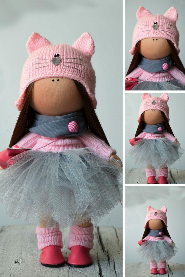 Tilda doll Fabric doll Interior doll Rag doll Art doll Handmade doll Pink doll Soft doll Nursery doll Cloth doll Collectable doll by Olga S