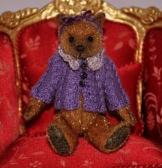 Lady Violet by Anna Braun - $120.00 : Petit Connoisseurs, South African Artisan Dollhouse Miniatures