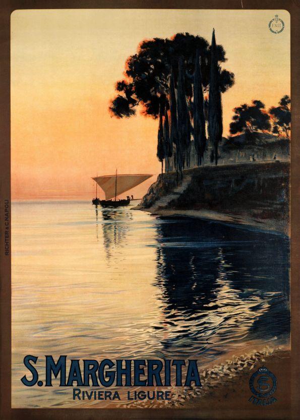 S. Margherita, Riviera Ligure, Italy. - Galerie 123 - Original Vintage Posters
