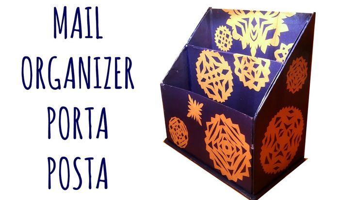 Raccoglitore per Posta da scrivania Home Made /Mail Organizer (Riciclo C...