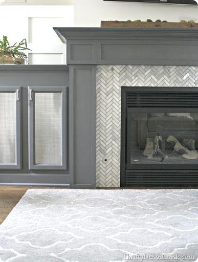 Thrifty Decor Chick: Tiling a fireplace surround                                                                                                                                                                                 More
