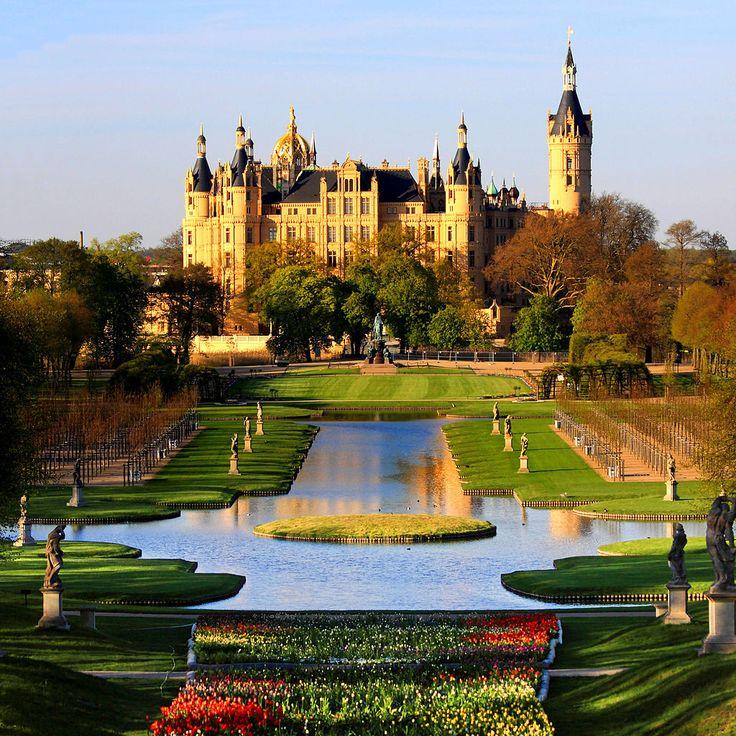Elegant Schwerin Palace Park Garden Mecklenburg Germany Schweriner Schloss Garten BUGA Schwerin Palace Wikipedia