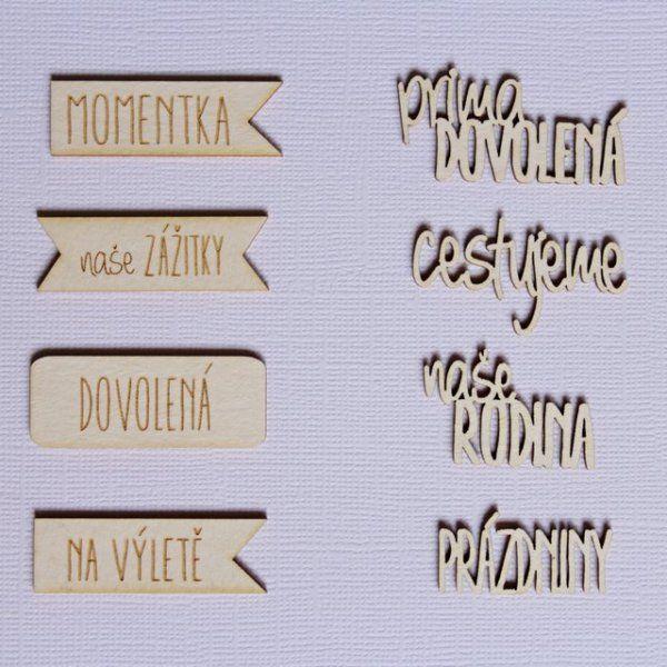 Krásné české chipboardy v designu Nemravka - cestovní sada