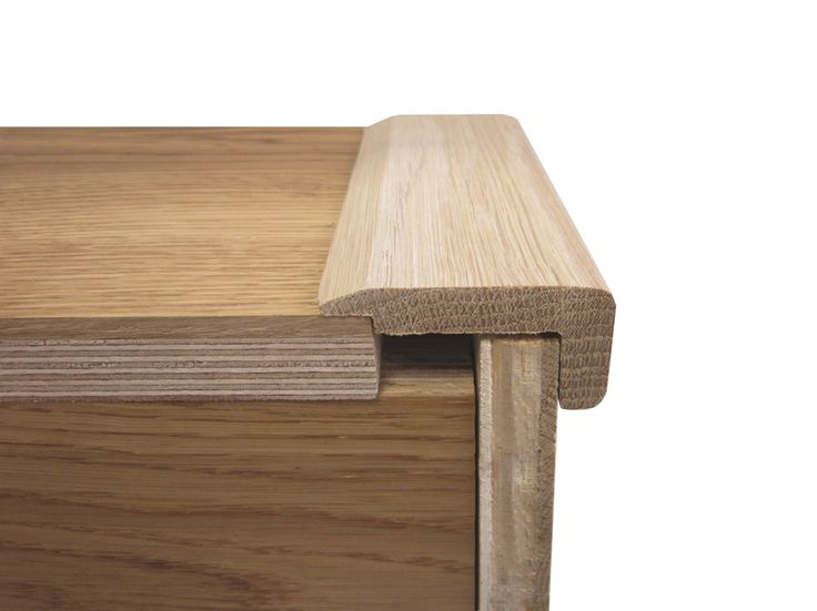 Universal Stair Nosing Satin Lacquered Oak 900mm Long
