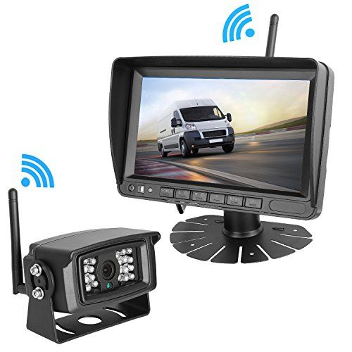 LeeKooLuu Digital Wireless Built-in Backup Camera and 7'' Monitor System Kit Working Over 300 ft Stable Signals Grid Lines Optional Waterproof Night Vision for Trailer/RV/Trucks/Motorhome/5th wheel #LeeKooLuu #Digital #Wireless #Built #Backup #Camera #Monitor #System #Working #Over #Stable #Signals #Grid #Lines #Optional #Waterproof #Night #Vision #Trailer/RV/Trucks/Motorhome/th #wheel
