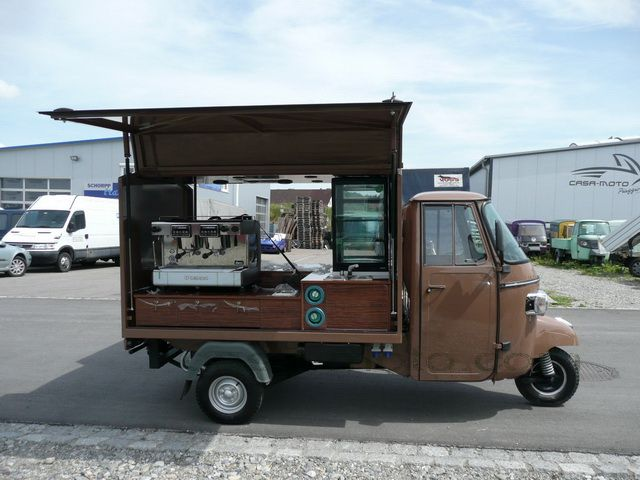 verkaufsaufbau kaffeemobil aufbau aus resopal beschichtetem holz piaggio ape verkaufsmobil. Black Bedroom Furniture Sets. Home Design Ideas