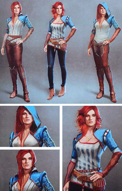 The Witcher 3 concept art → Triss Merigold http://thewitcher3ps4.com/the-witcher-3-gallery/